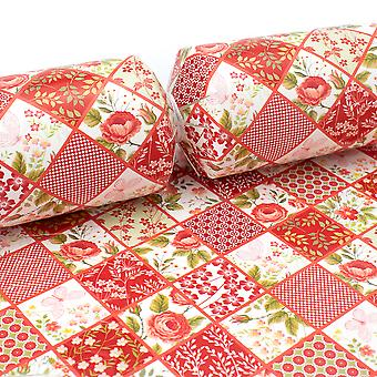 10 Red Floral Patchwork Cracker Boards & Snappy Strips - Make Your Own