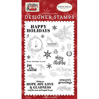 Carta Bella Happy Holidays Clear Stamps