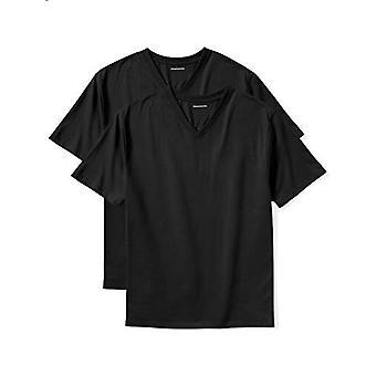 Essentials Men's Big & Tall 2-Pack camisetas de manga corta en V-Neck...