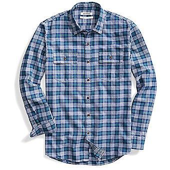 Marke - Goodthreads Men's Standard-Fit Long-Sleeve Plaid Twill Shirt, ...