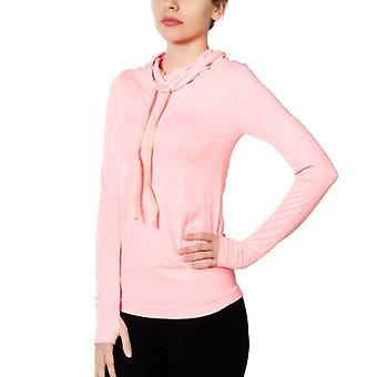 Jerf mujeres Edzo coral rosa bufanda collar sudadera sin costuras