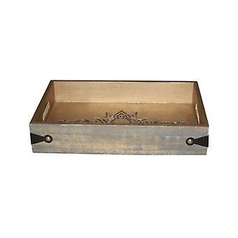 Deco4yourhome Wooden Tray Greywash