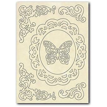 Wooden Shapes A5 Frame, Corners & Butterfly (KLSP030)