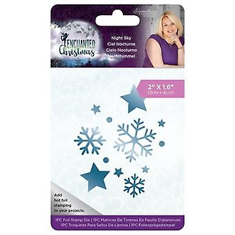 Crafter's Companion Enchanted Christmas Night Sky Foil Stamp Die