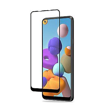 AMORUS Samsung Galaxy A21s tvrzené sklo - černá