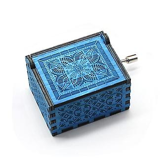 Engraved Hand Crank Wooden Music Box For Music Lovers - Star Wars Digimon Games Of Thrones Music Box Collectibles