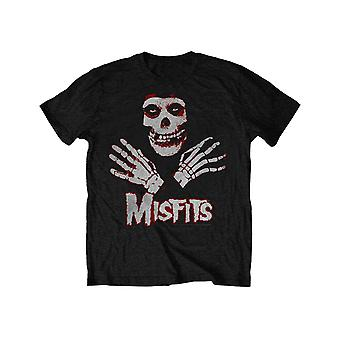 Misfits Kids T Shirt Hands Band Logo new Official Black Ages 3-10 yrs