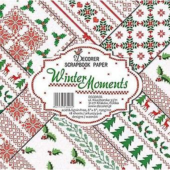 Decorer Winter Moments 8x8 Inch Paper Pack