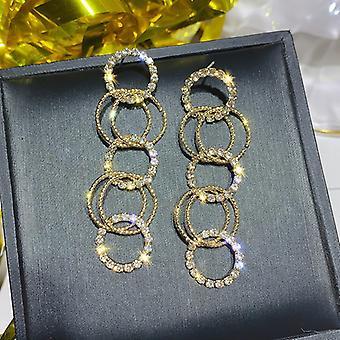 Boucles d'oreilles Gold Long Interlinked Hoops
