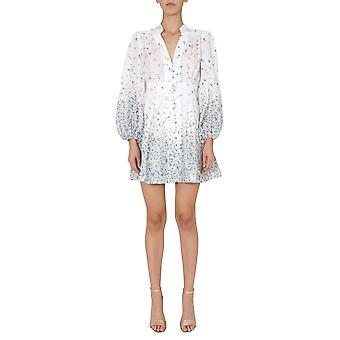 Zimmermann 8893dcaridi Women's White Linen Dress