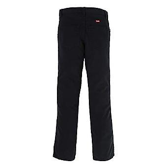 Wrangler Authentics Little Boys' Slim Straight Twill Pant, black, 5