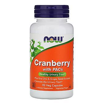 Nu voedingsmiddelen, Cranberry met PACs, 90 Vegetarisch Capsules