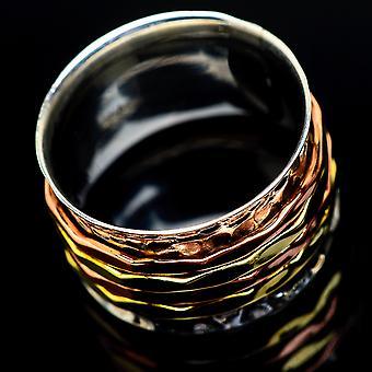 Meditation Spinner Ring Size 7.5 (925 Sterling Silver)  - Handmade Boho Vintage Jewelry RING23662