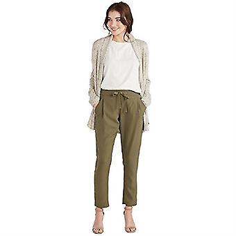 Pantalon en crêpe Olive Chandler à tarte à la boue, vert olive, moyen