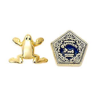 Harry Potter Chocolate Frog Gold Plated Stud Earrings