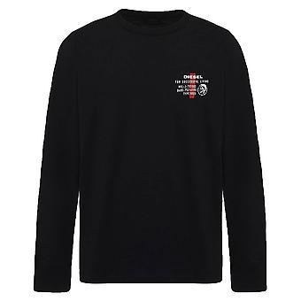 Diesel Diegos Long Sleeve T-Shirt - Black
