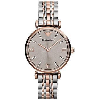 Emporio Armani AR1840 Two Tone Gianni Stainless Steel Ladies Watch