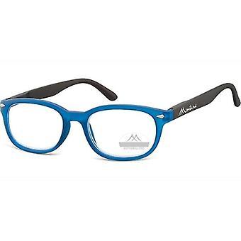 Lesebrille Unisex  rechteckig blau Stärke +2,00 (box70)