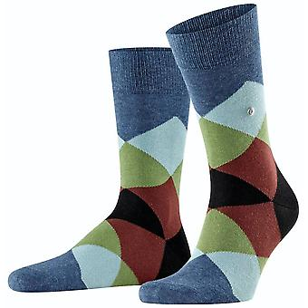 Burlington Clyde Socks - Dark Blue/Black/Green