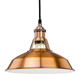 1 domo de luz colgante de techo cepillado cobre, E27