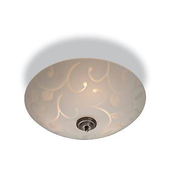 Firstlight Sadie - 3 Lumière Semi Flush Plafond Lumière Opal Verre, Motif décoratif, E14