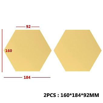 1 Ensemble Hexagonal -3d Mirror Wall Stickers For Restaurant Aisle Floor,