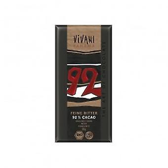 Vivani - Dark Chocolate - 92% Cocoa 80gx10