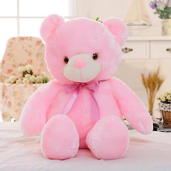 Luminous 30/50/80cm Creative Light Up Led Teddy Bear Stuffed Plush Toy