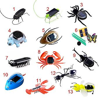 Fashion Children Toys Plastic Solar Power Ant Cockroach Spider Tortoise Crab Butterfly Insect Teaching Baby Toy Gift
