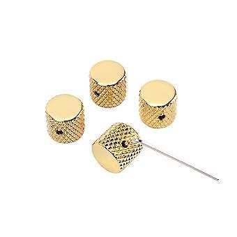 4PCS Gold Metal Gitarre Dome Knöpfe mit Schraubenschlüssel für Gitarrenzubehör