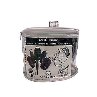 Olivia Garden Multibrush Detachable Thermal Styling Hair Brush 6 Piece Bag