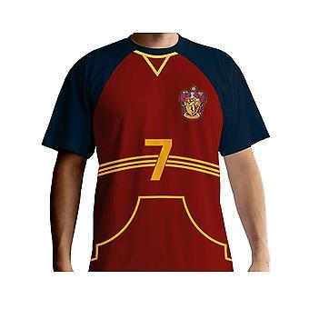 هاري بوتر تي شيرت Quidditch جيرسي جديد الرسمية Mens الأحمر