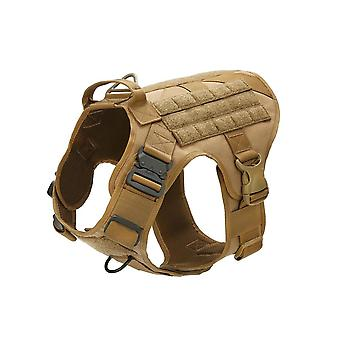 Tactical Dog Vest Breathable Military Clothes Harness Adjustable Size Training Hunting Molle