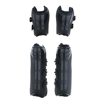 Open Front Jumping Horse Boots, Fetlock And Tendon Leg Wrap Protective Gear