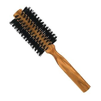 Forsters Round brush, boar bristles, olive wood