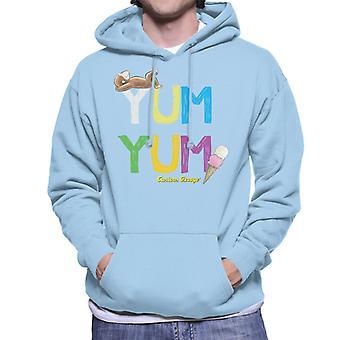 Curious George Yum Yum Ice Cream Men's Hooded Sweatshirt
