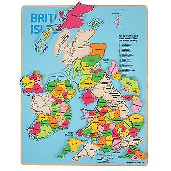 Bigjigs brittiska öarna Inset Pussel