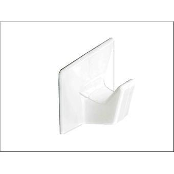 Securit Self Adesivo Cup Ganchos Branco Pequeno x 4 S6351