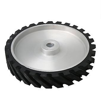 Aluminum Belt Grinder Rubber Wheel Bearings Serrated Wheel 29.5cm OD
