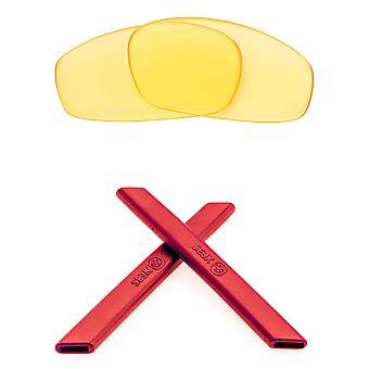 Replacement Lenses & Kit for Oakley Split Jacket Yellow & Red Anti-Scratch Anti-Glare UV400 by SeekOptics