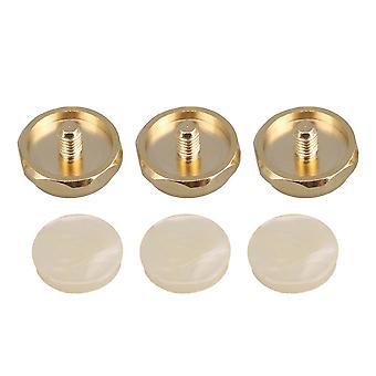 3PCS Golden Kobber Hexagon Trompet Finger Knapper ABS Plastic Indlæg