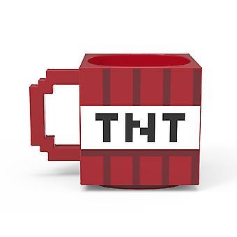 Minecraft punainen TNT lohko keraaminen veistetty muki
