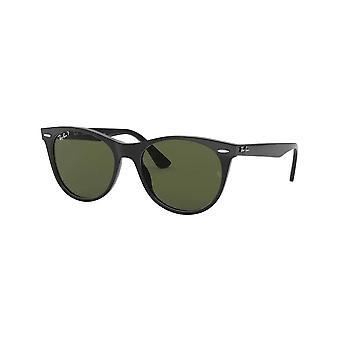 Ray Ban Rb2185 901/58 55 Wayfarer Occhiali da sole polarizzati neri e verdi