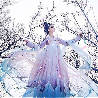 Vrouwhanfu borduurwerk Oosterse Tang Oude fotografie jurk