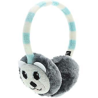 KitSound Audio On-Ear Earmuffs with Built In Headphones In-Line Mic Polar Bear