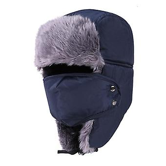 New Balaclava Earflap Bomber Cap With Scarf/women