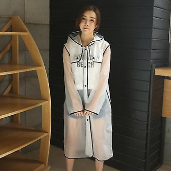 New Fashion Women's Transparent Eva Plastic Raincoat Travel Waterproof Rainwear