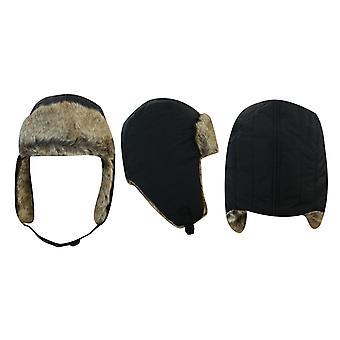 Timberland Unisex Mens Femmes Isolé Trapper Chapeau Noir Hiver J1825 001 A185D