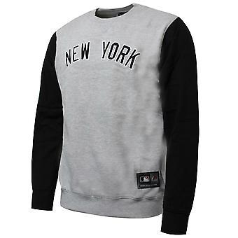 Majestic Team Apparel New York Yankees Mens Sweatshirt Grey Black A3NYY5209 GRY