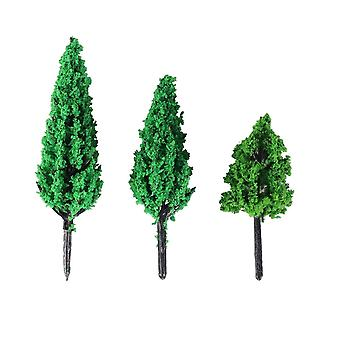 Trees Park Pine Poplar Forest Pagoda - Miniature Diorama Micro Layout Scenery